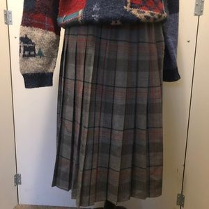 ♨️Vintage♨️Pleaded Plaid Skirt